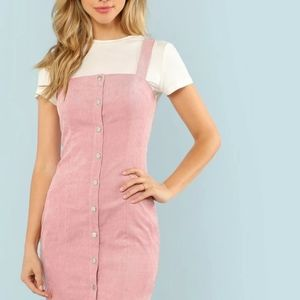 Button up overall dress